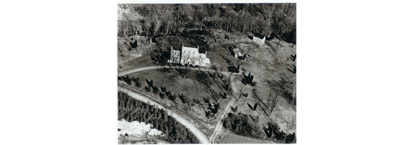 Aerial view of Green Spring during the Straight family's ownership