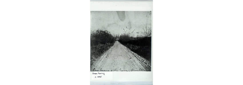 Lane leading to Historic House in 1885