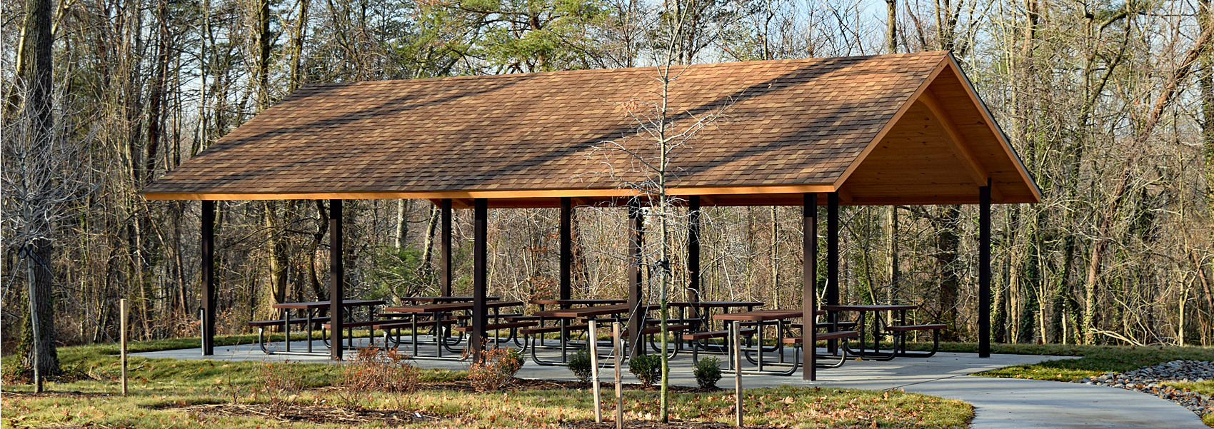 Hidden Pond's picnic shelter