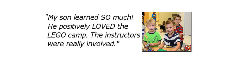My son learned SO much! He positively LOVED the Lego Camp. The instructors were really involved.