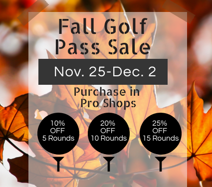 Fall Golf Pass Sale