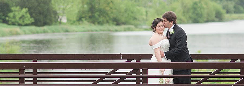 Wedding Couple on Bridge