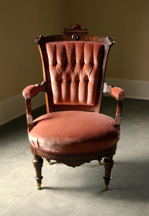 Historic, upholstered chair