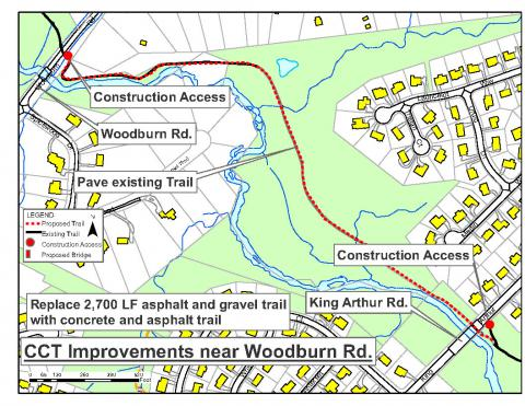 Trail Improvements Begin in Accotink Stream Valley Park on GCCCT