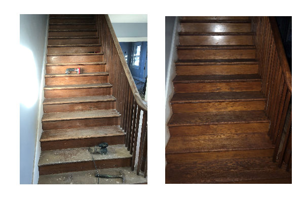 Stempson House Before and After Photo