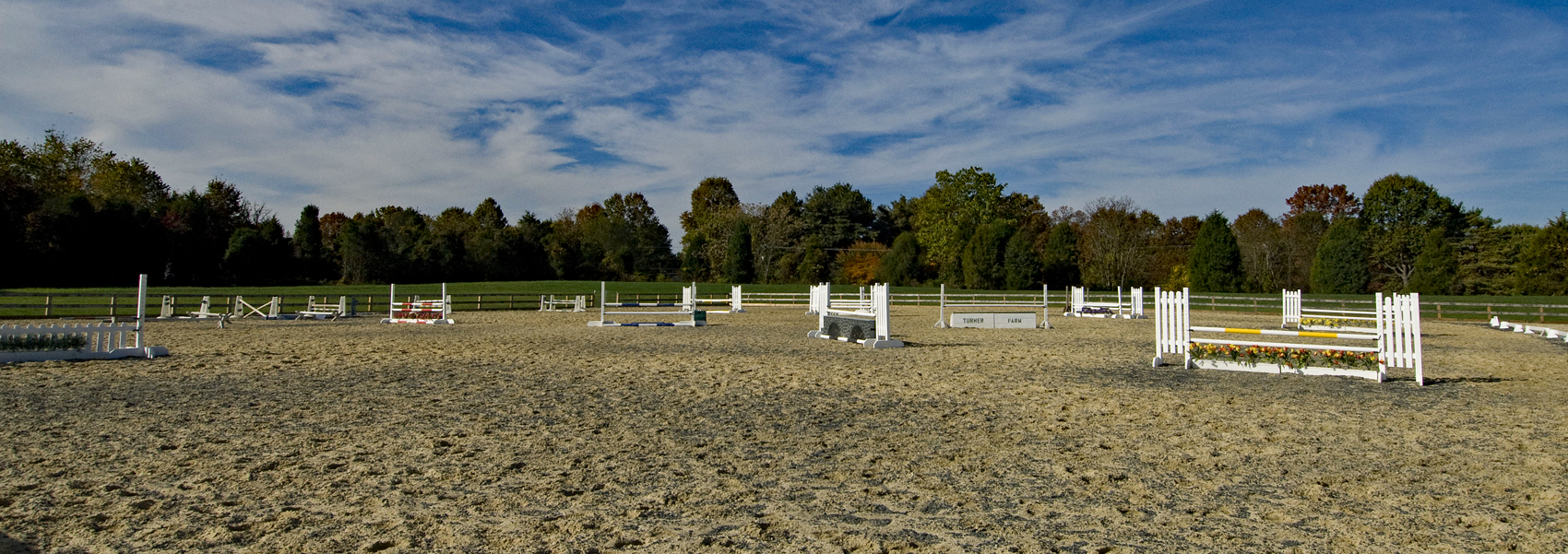 The riding ring with obstacles at Turner Farm