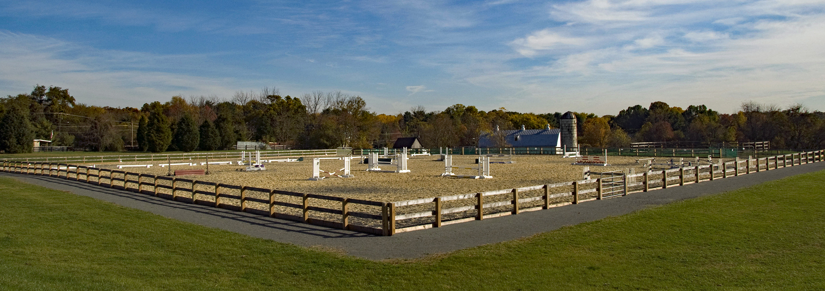 The riding ring at Turner Farm