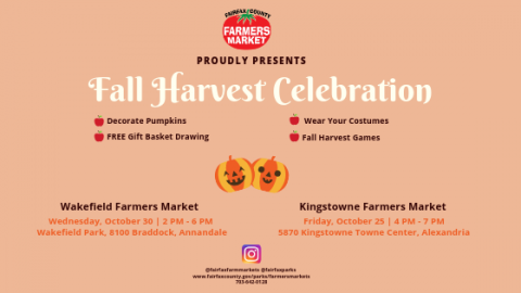 Fall Harvest Celebration at the Farmers Markets