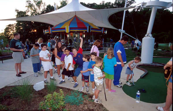 Children enjoy the many amenities at Lake Accotink.