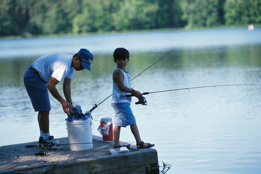 Lake fairfax fishing park authority for Campsites with fishing