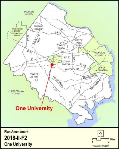 One University Location Map