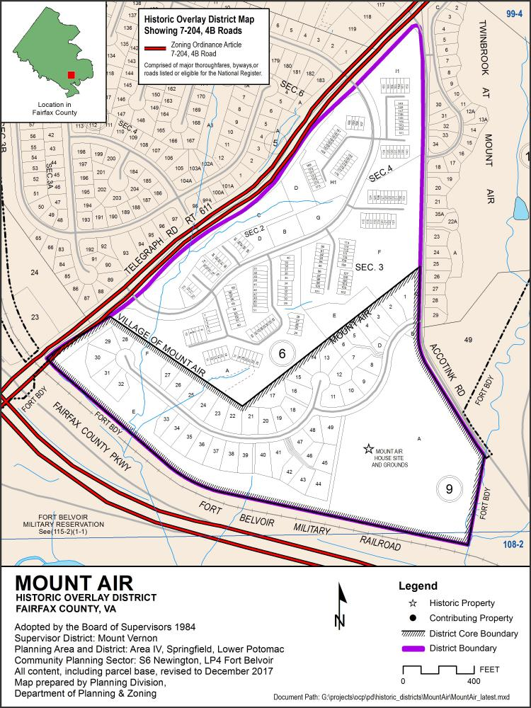 Mount Air Historic Overlay District Map