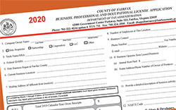 2020 BPOL License Application