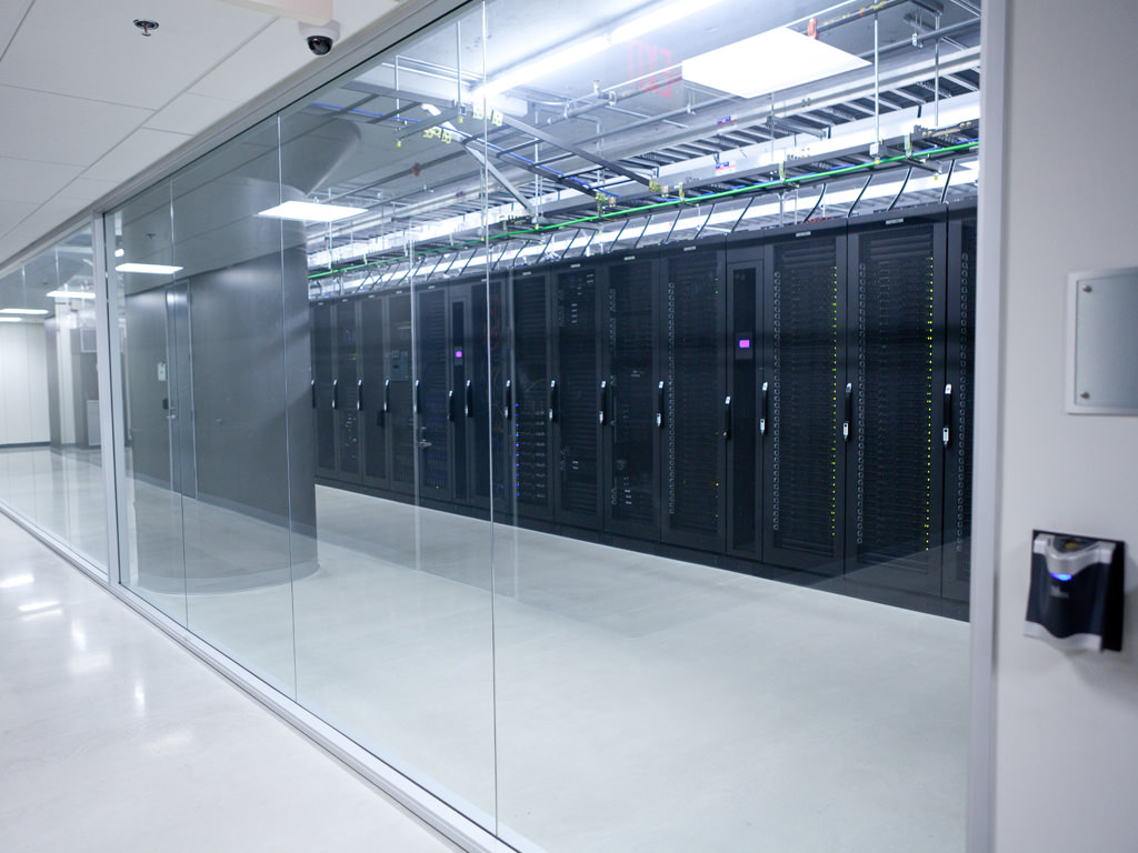 Data servers at a Coresite center.