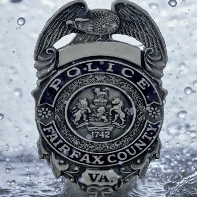 Fairfax County Police Department badge.