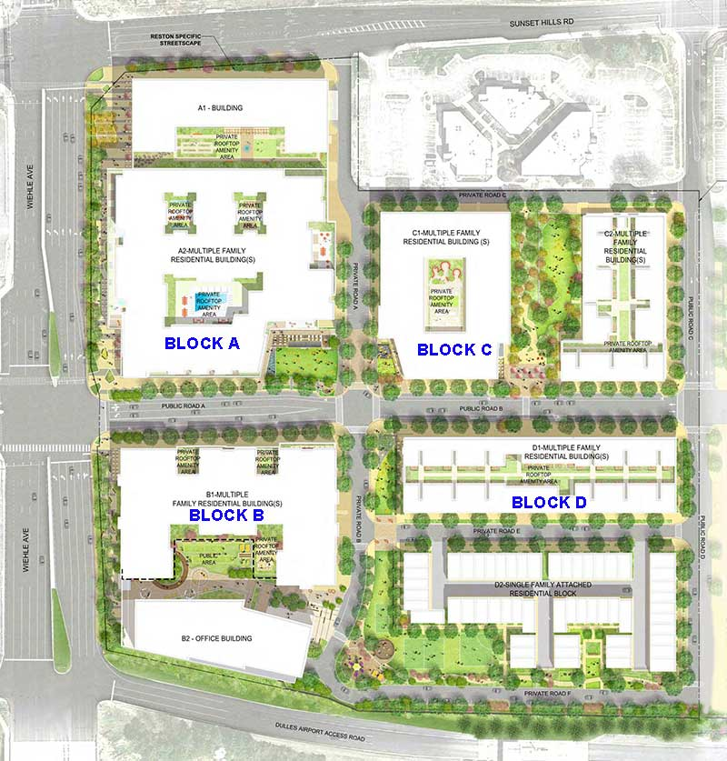 Reston Midline conceptual site plan.