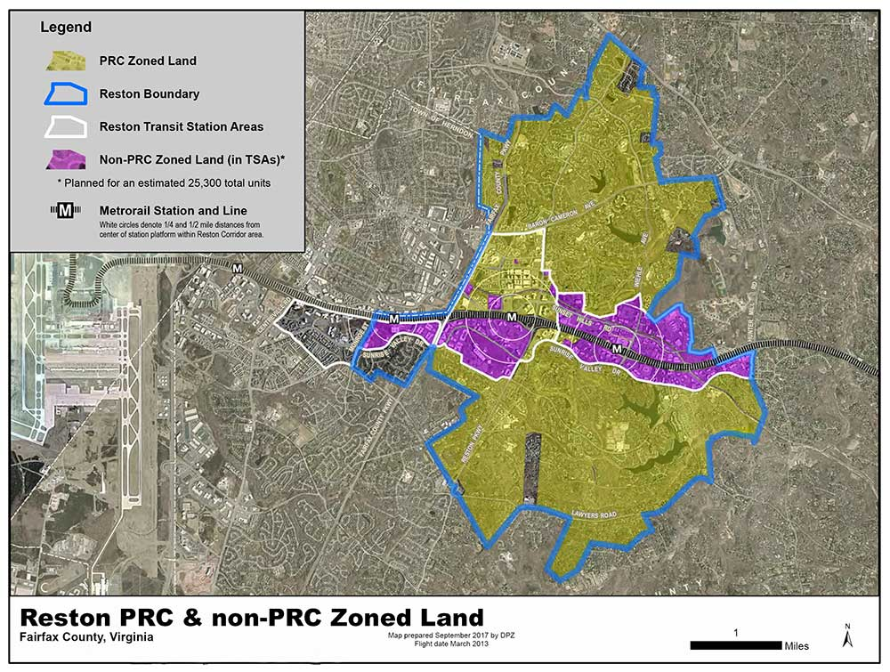 Reston PRC Zoning map.