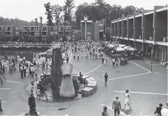Historic photo of Washington Plaza at Lake Anne in Reston.