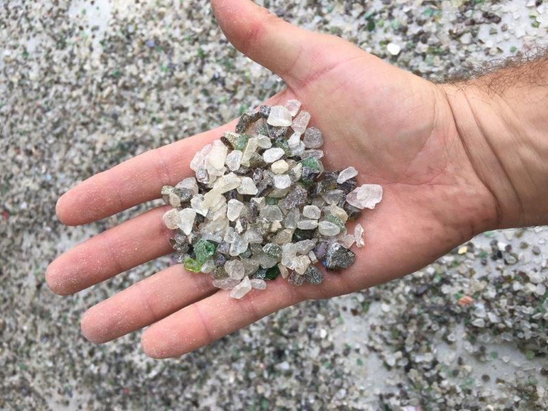 Handful of Crushed Glass