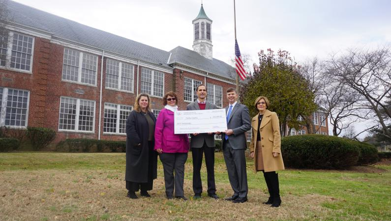 OMVHS Check Presentation from U.S. Communities Foundation