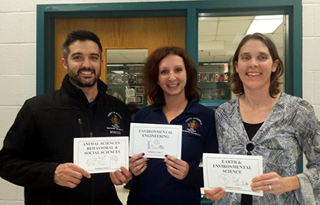 Three Public Works employees served as science fair judges