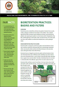 bioretention fact sheet cover