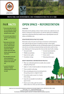 Open Space - Reforestation Fact Sheet cover