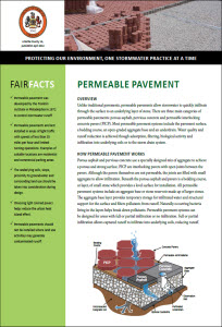 Permeable Pavement Fact Sheet cover