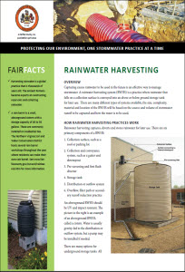Rainwater Harvesting Fact Sheet cover
