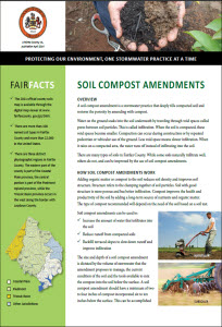 Soil Compost Amendments Fact Sheet cover