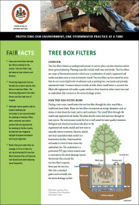 Tree Box Filters Fact Sheet cover