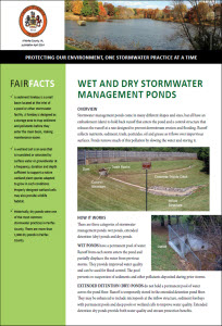 Wet and Dry Stormwater Managmene Pool Fact Sheet cover