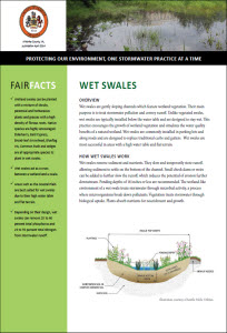 Wet Swales Fact Sheet cover