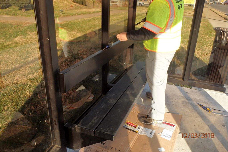 Bus shelter repair