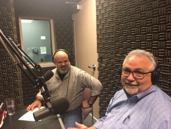 EnviroPod Podcast with Juan Reyes and Scott Coco in the sound studio
