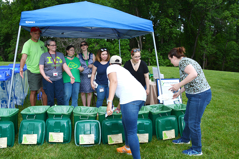 Compostable materials were collected at the Public Works Week picnic.
