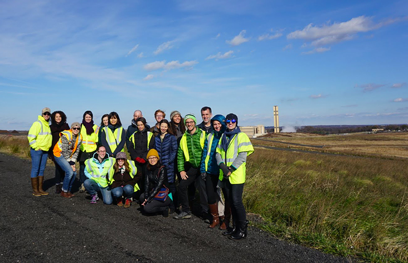 World Resources Institute Group Tours Landfill Complex