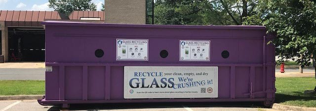 Mount Vernon Glass Only Recycling Bin