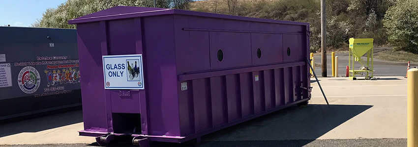Purple Can Club - glass only recycling bins