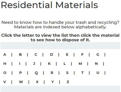 Residential Materials - image of the page