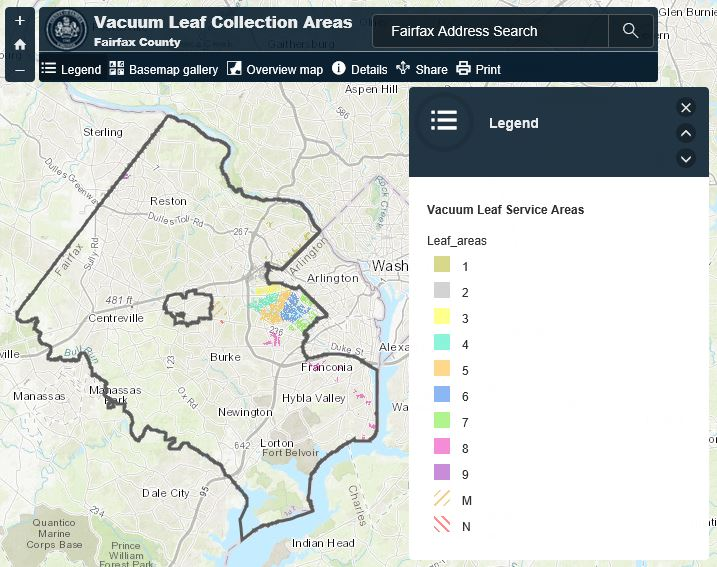 Vacuum Leaf Collection map
