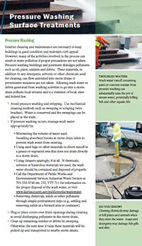 Pressure Washing Surface Treatments