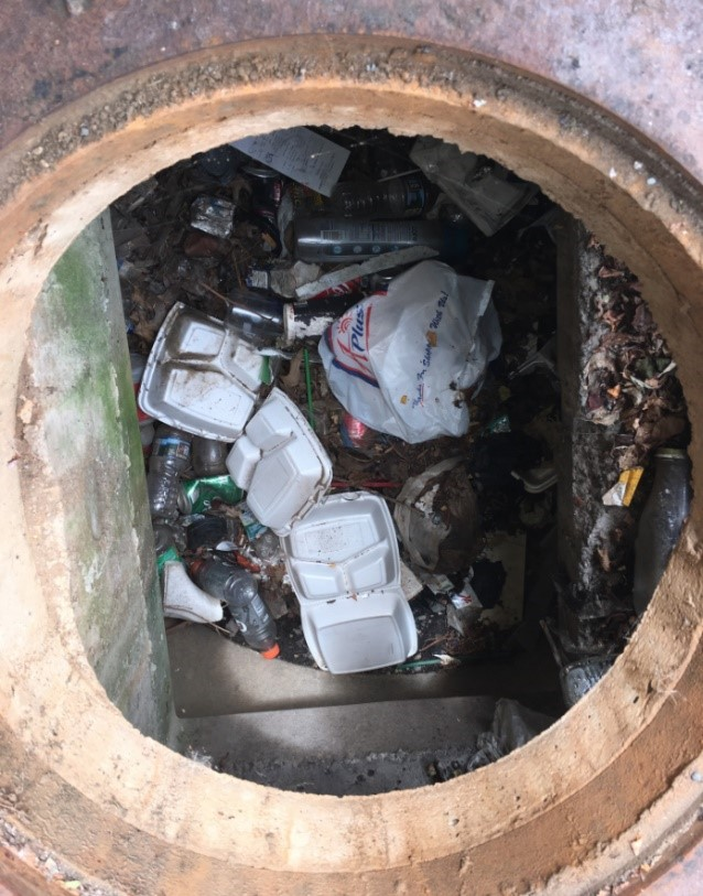 Litter in the Storm Drainage System