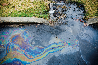 oil in water in storm drain