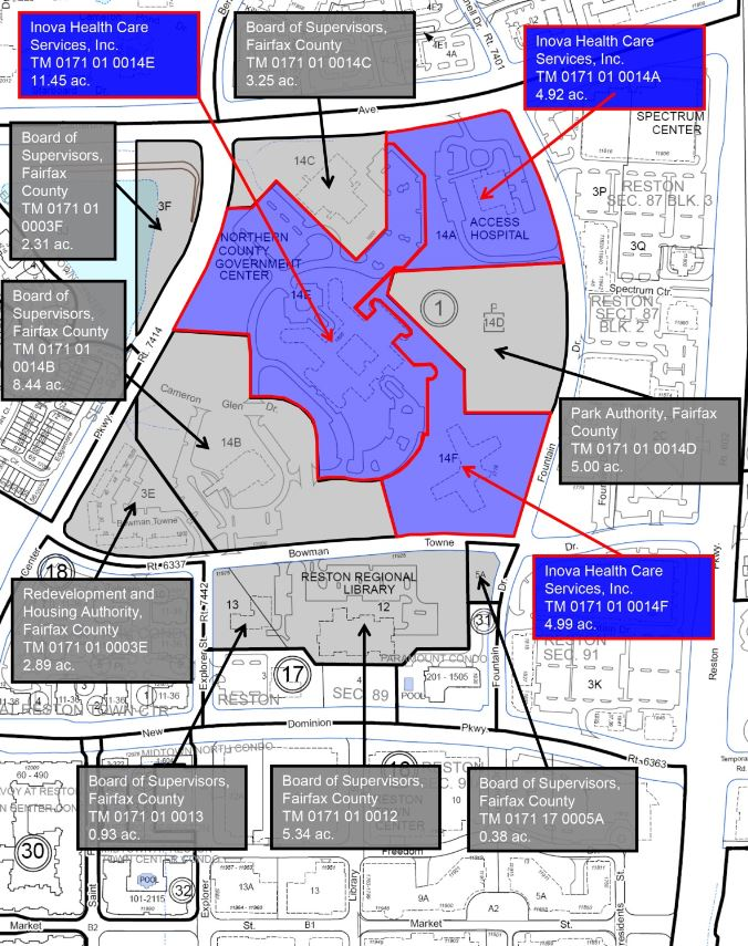 Reston Town Center Map Reston Town Center North (RTCN) | Public Works and Environmental
