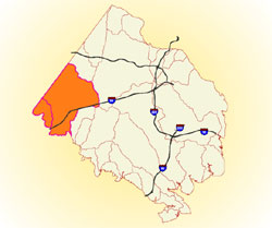 map of watershed area