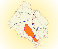 area map of watershed