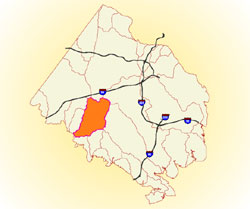 overview map of watershed area
