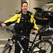 Deputy with bicycle