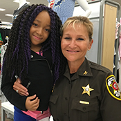 Sheriff Kincaid and little girl at Target